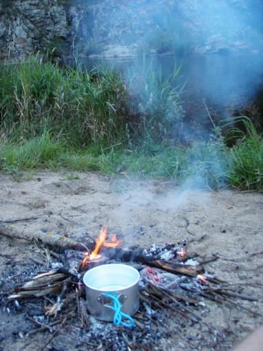 L'eau est sur le feu