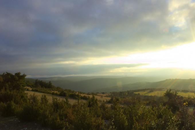 contre jour couche de soleil