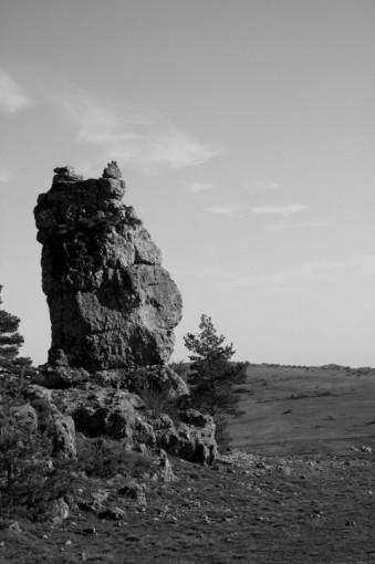 Rocher ruiniforme de Nîmes le vieux
