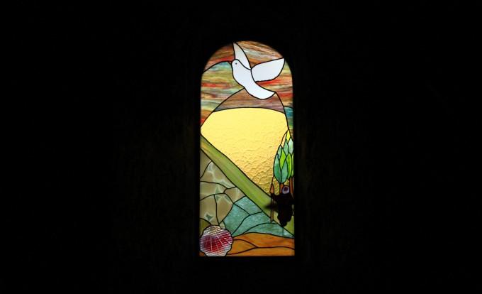 Vitrail de la chapelle de Rochegude.