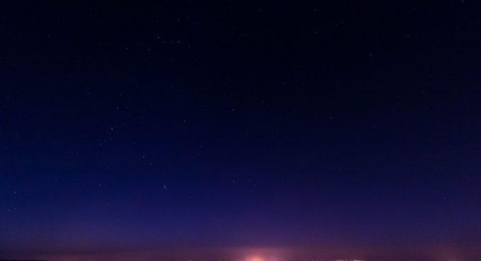 essai de photographie d'étoile filante